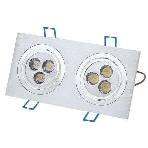 Lâmpada Led Encastrável 6W 3500K 500-Lumen 6-LED - luz branca quente
